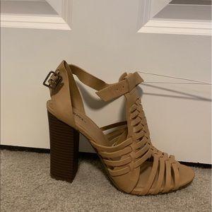 Merona tan Block heel pump